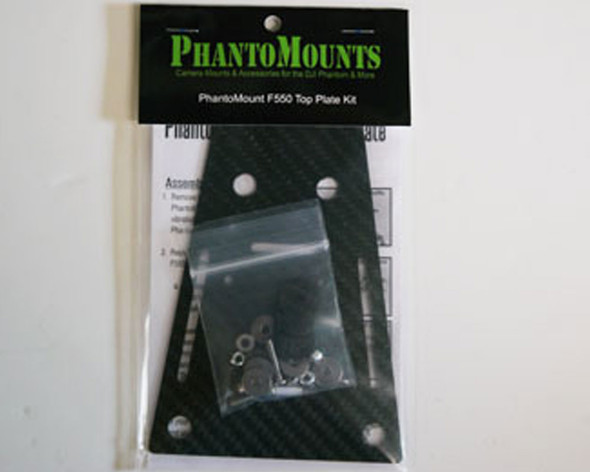 PhantoMount X2/X2 Wide DJI F550 Top Plate Kit (Unassembled)