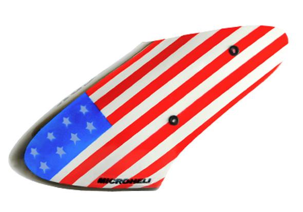 Microheli BLADE Nano CP X Airbrush Fiberglass USA Flag Canopy nCPX