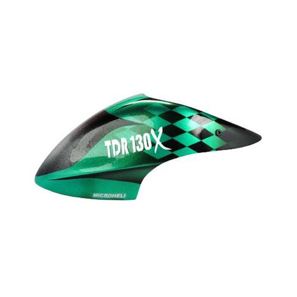 Microheli Airbrush Fiberglass F1 Racing TDR Canopy - BLADE 130X / 130 X