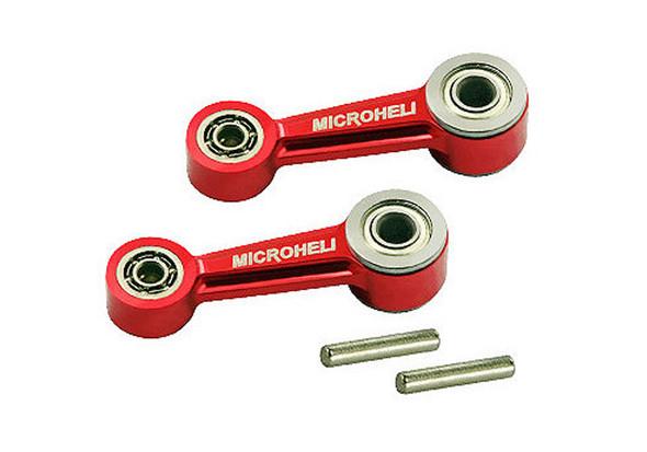 Microheli Blade 300 X Aluminum Washout Control Arm Set Red 300X