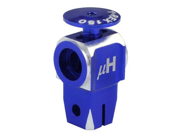 Microheli CNC AL Main Rotor Hub w/ Button (BLUE/PURPLE) T-REX 150 DFC