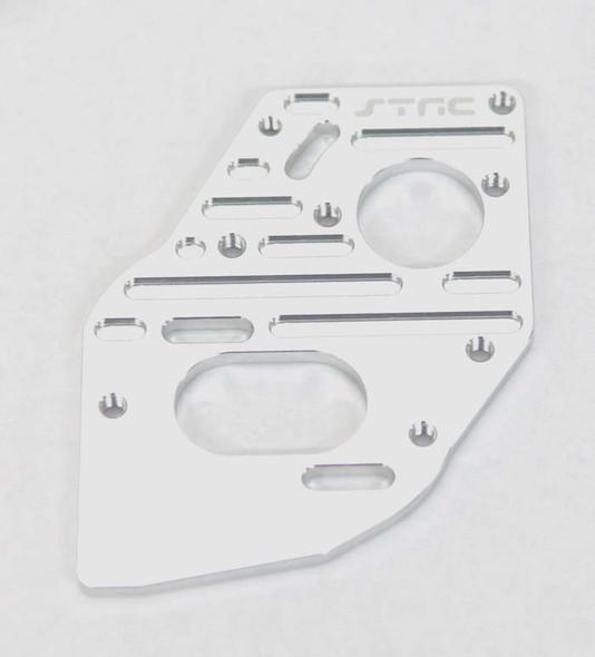 STRC STC91018S Aluminum Heatsink Fin Motor Plate Silver SC10 4x4