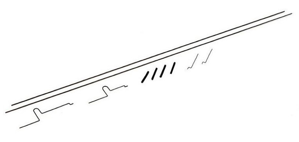ParkZone PKZU1426 Pushrod Set: Ultra Micro Pole Cat