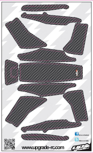 Upgrade RC Black Faux Carbon Skin / Decal / Sticker 200QX UPG7210