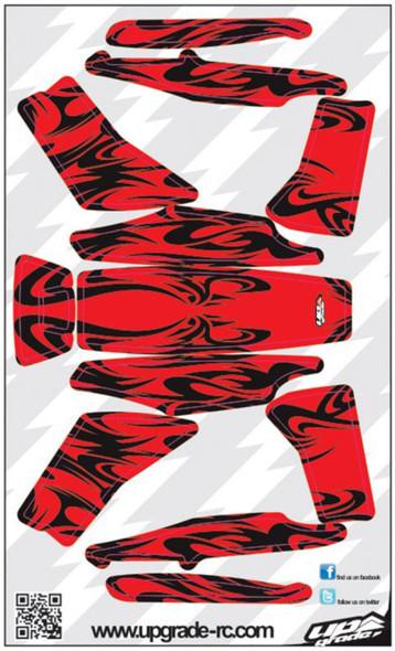 Upgrade RC Black/Red Kabuki Skin / Decal / Sticker 200QX UPG7205