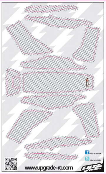 Upgrade RC White Faux Carbon Skin / Decal / Sticker 200QX UPG7213