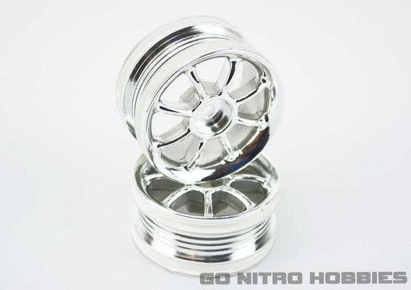 "RPM ""8-Ball Chrome Sedan Wheels 1/10 Touring Hpi,Tamiya,Kyosho,Traxxas"