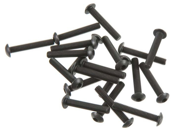 Thunder Tiger Button Head Machined Screw 3x20mm (20) MT4 PD0673