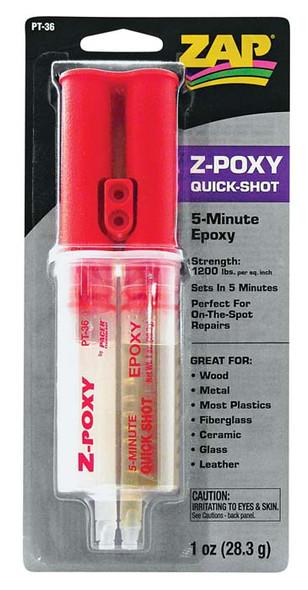 Pacer Zap Adhesives 5 Minute Epoxy Syringe PT36