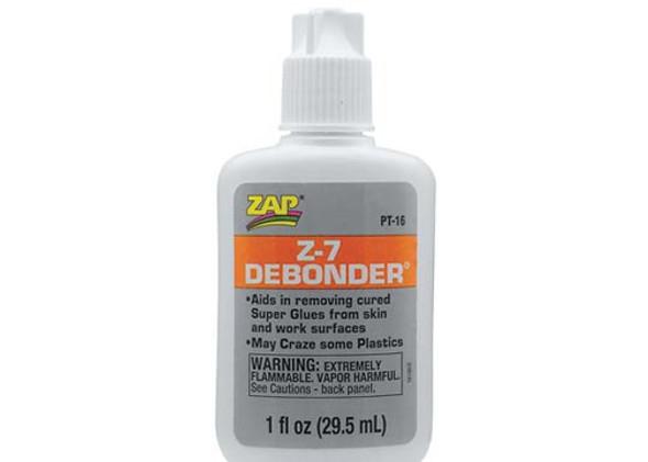 Pacer Zap Adhesives Z-7 De-Bonder 1 oz PT16