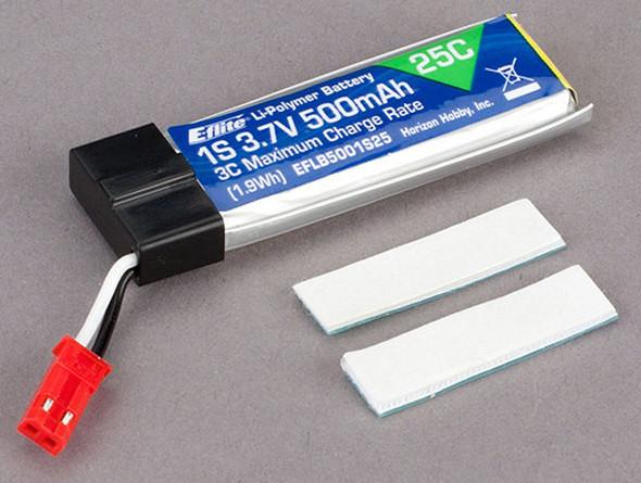 E-Flite 500mAh 1-Cell 3.7V 25C LiPo Battery 120 SR