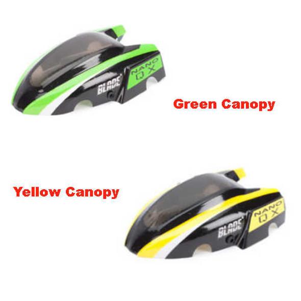 Blade Nano QX Quadcopter Green & Yellow Canopy BLH7614 / BLH7614A