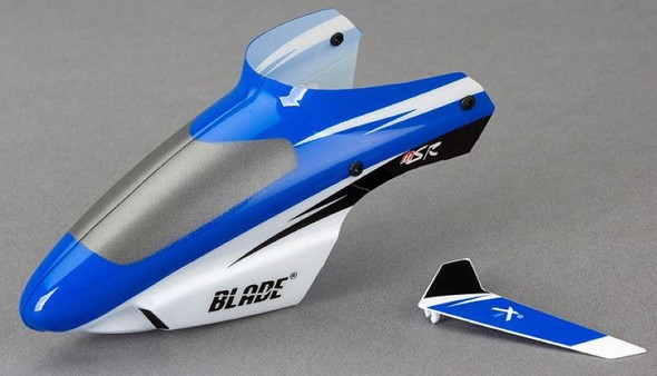 Blade BLH3018 MSR Complete Blue Canopy with/ Vertical Fin
