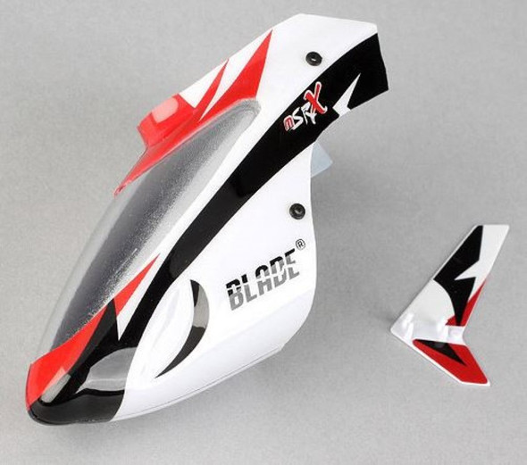 Blade BLH3218 MSR X Complete White Canopy w/ Vertical Fin MSRX