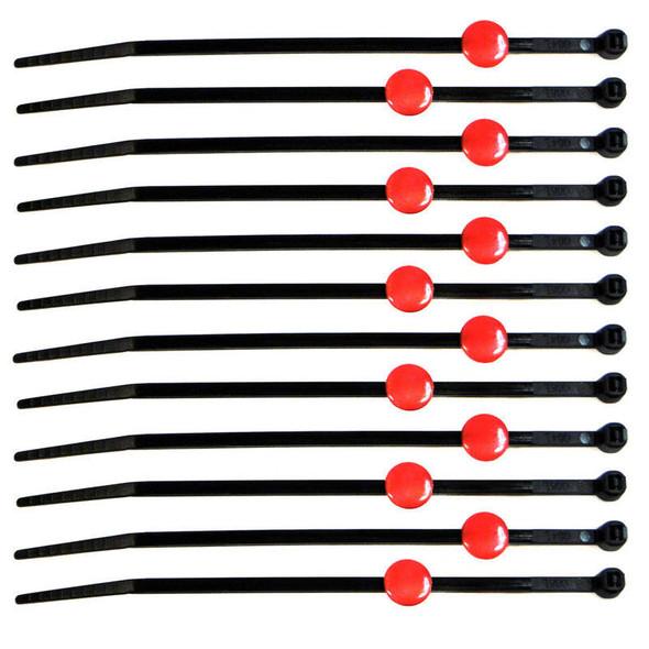 RC Lights RCL79816 Red Tie Caps with Zip Ties (12 )