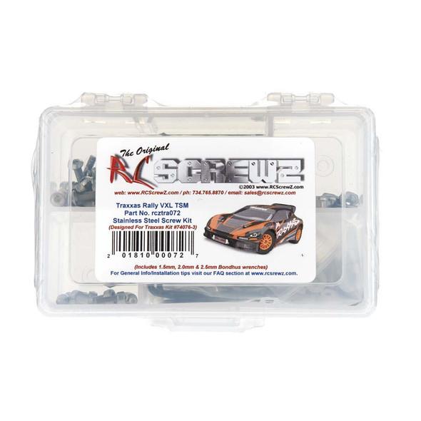 RC Screwz TRA072 Stainless Steel Screw Kit Rally VXL TSM (74076-3)