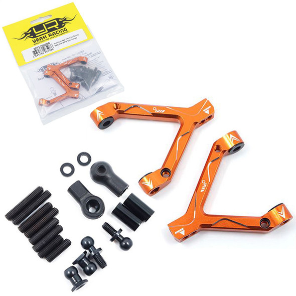 Yeah Racing SPT2-D002OR Rear Y Arm Replacement for SPT2-S04 Conversion Sprint 2