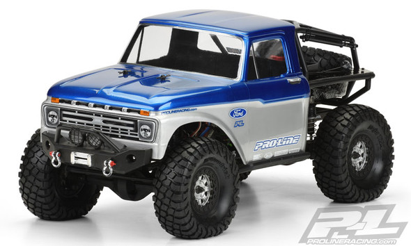 """Pro-Line 3464-00 1966 Ford F-100 Clear Body 12.3"""" 313mm Axial SCX10 Honcho"""
