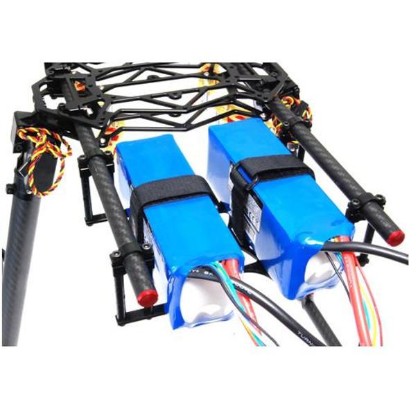 Secraft Black Anodized Aluminium Battery Holder for Landing Gear Multi-Rotors