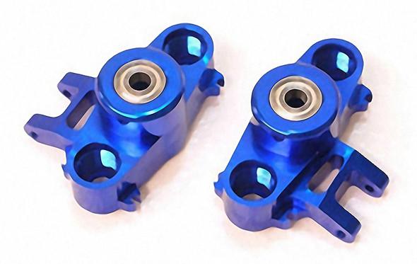STRC CNC Aluminum HD Steering Knuckles W/ 6X15 Bearings Blue ST5334B