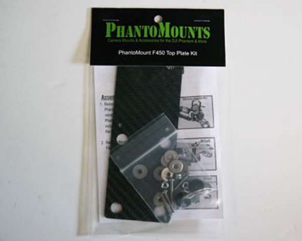PhantoMounts DJI F450 X2 CARBON FIBER MOUNT PLATE