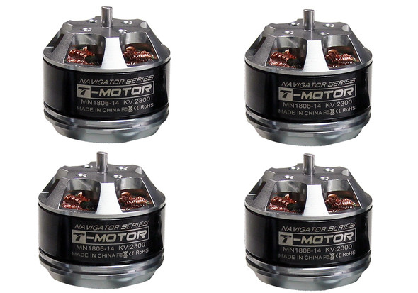 T-Motor Navigator Series MN1806 2300KV Brushless Multi Rotor Motor Set of 4