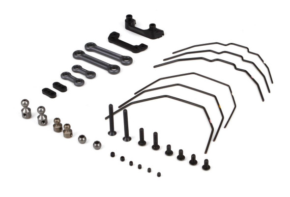 Losi Sway Bar Kit, Front and Rear : 22-4 TLR334006