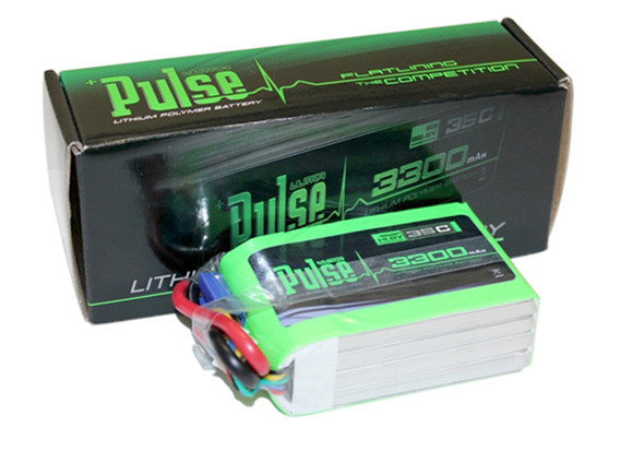 Pulse 4S 2P 14.8V 3300mAh 35C LiPo Battery Flat Pack DJI F450 550