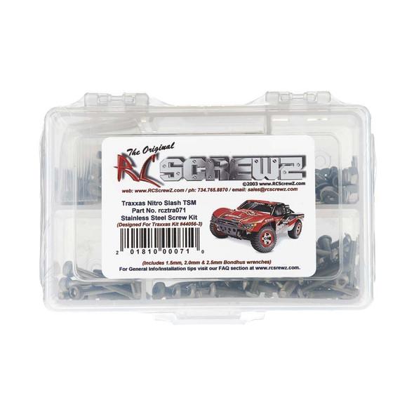 RC Screwz TRA071 Stainless Steel Screw Kit Nitro Slash TSM (44056-3)