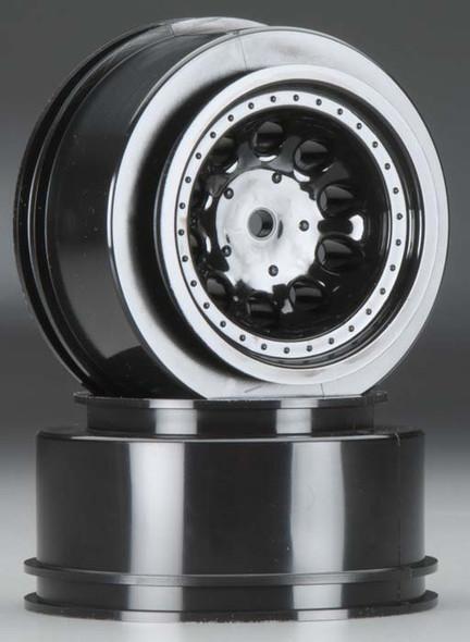 RPM 82322 Revolver Front Wheels / Rims Black For Traxxas 2WD Nitro Slash