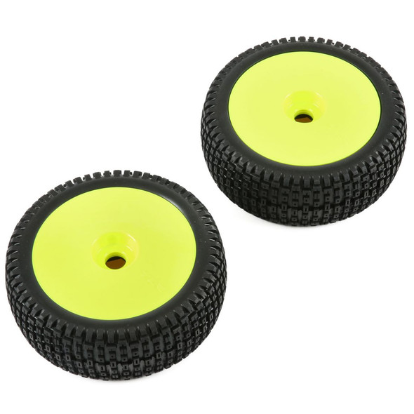 Losi TLR45004 1/5 Yellow Mounted Wheel and Tire (2) : 5IVE-B