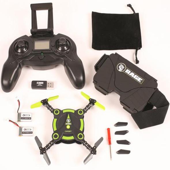 Rage R/C Orbit FPV Pocket Electric Quadcopter Drone RTF