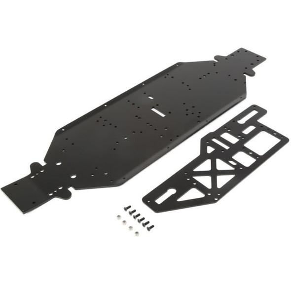 Losi LOS251050 Chassis w/ Brace plate 4mm Black : DBXL-E