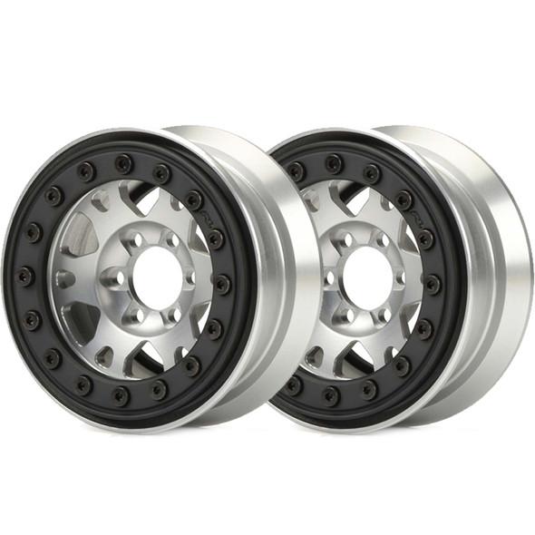 "Pro-Line Pro-Forge 1.9"" Alum/Black Bead-Loc 6-Lug Wheels : Rock Crawlers (2)"