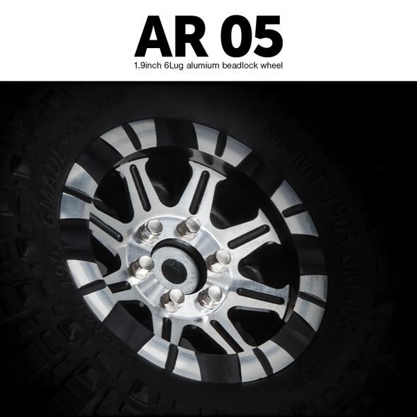 Gmade GM70414 1.9 AR05 6 Lug Aluminum beadlock wheels (2)