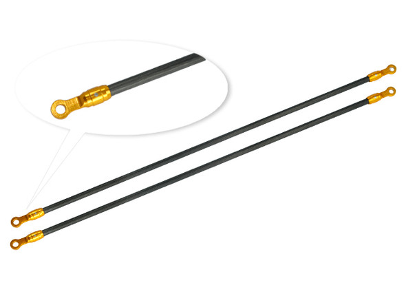 Microheli Aluminum / Carbon Tail Boom Support set (GOLD) - BLADE 180 CFX