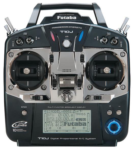 Futaba 10J S/ FHSS Helicopter 10 Channel 2.4GHz Transmitter w/ R3008SB Receiver Mode 2 FUTK9201