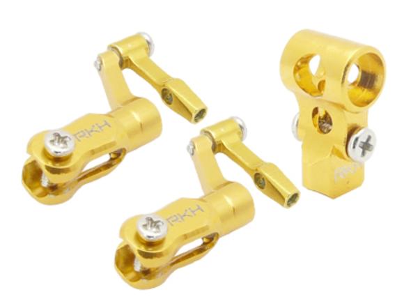 Rakon Heli nCPX001-Y CNC Aluminum DFC Head Set Gold Blade Nano CPX / nCPX
