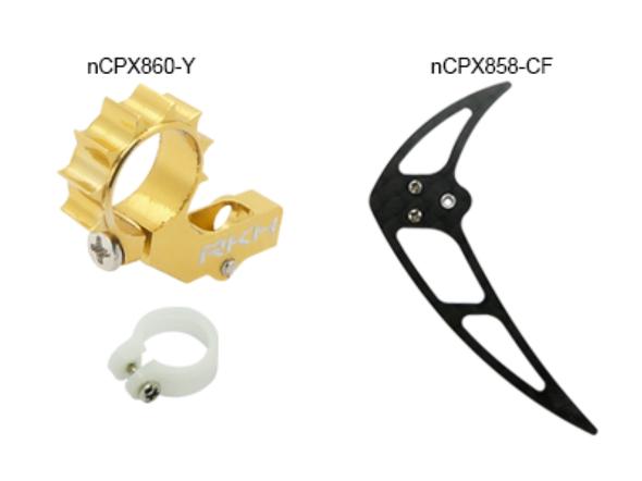Rakon Heli nCPX866-Y CNC Tail Combo 02 Gold Nano CPX / nCPX / nCP X