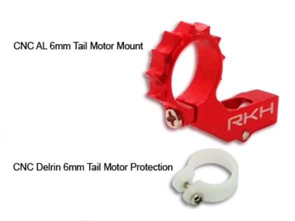 Rakon Heli nCPX860-R CNC AL 6mm Tail Motor Mount Red Nano CPX / nCPX / nCP X