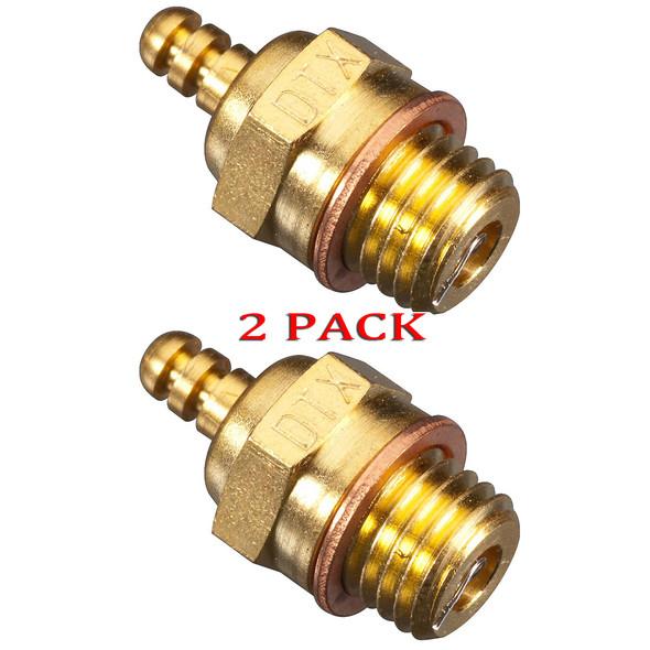 Duratrax DTXG3005 Gold Racing Cold Glow Plug 2-PACK