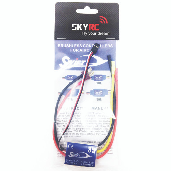 SKYRC SWIFT 35A 15V / 4S LIPO 6-12 NIMH SPEED CONTROL ESC FOR AIRPLANE