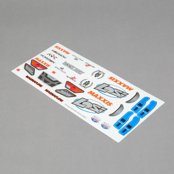Losi Electric Blue Decal Sheet : Rock Rey