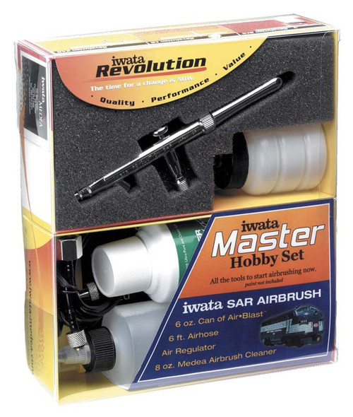 Iwata-Madea Master Hobby Revolution SAR ALL IN ONE AirBrush Set R1100
