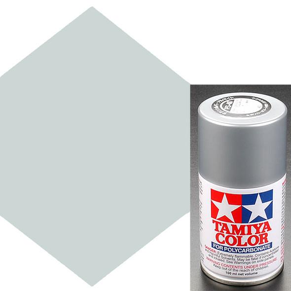 Tamiya Polycarbonate PS-48 Semi-Gloss Silver Spray Paint 86048