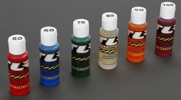Losi TLR Shock Oil 6Pk, 50, 60, 70, 80, 90, 100 2oz TLR74021