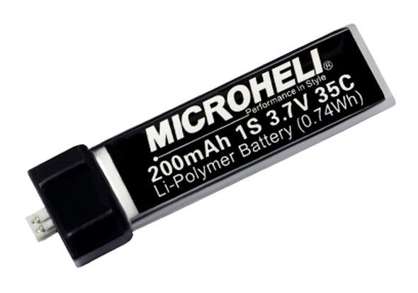 Microheli 200mAh 3.7V 35C LiPo Battery : Inductrix / NCPS / MSRS/ NCPX / QX / MCX