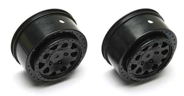 Team Associated 91101 KMC Hex Wheels, Black