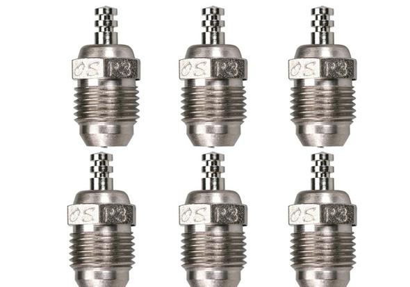 O.S. P3 Turbo Glow Plug V-Spec Ultra Hot Off-Road 6PCS