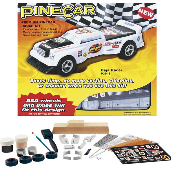 Pine Pro P3946 PineCar Baja Racer Premium Racer Car Kit